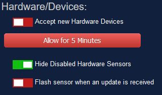 """Disable the """"Accept new Hardware Devices"""" feature in Domoticz"""