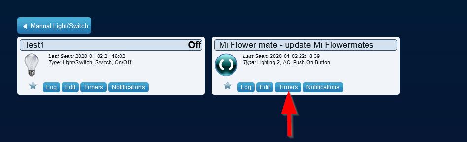 Adding a timer under Domoticz