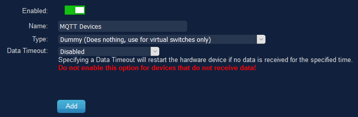 Add new Dummy hardware for the virtual devices